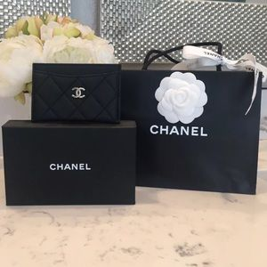 Chanel card case coin wallet